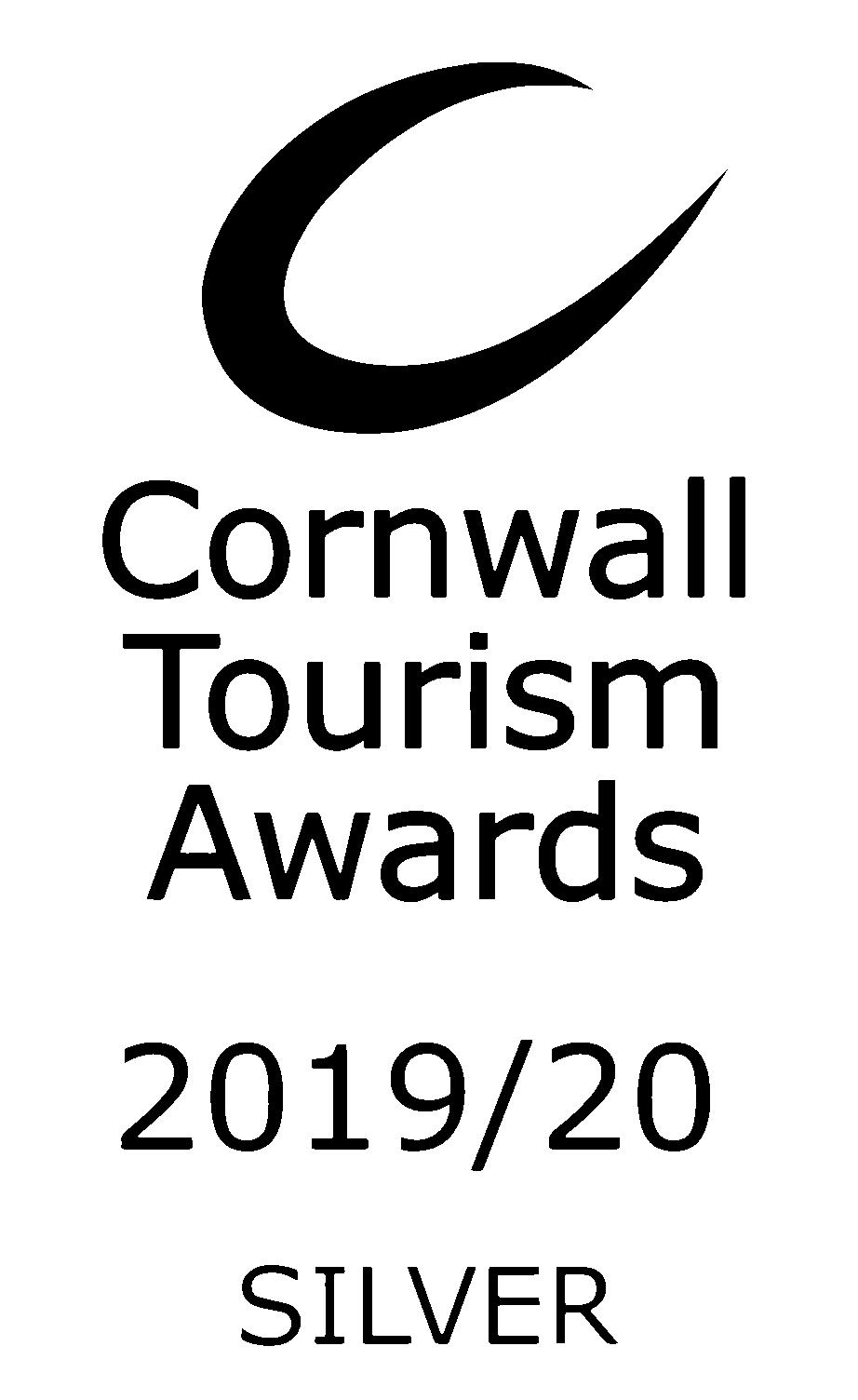 Cornwall Tourism award silver 2019 logo